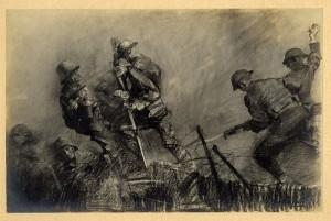 """Night Patrol, No Man's Land"", lithograph (1918), George Harding, The Historical Society of Pennsylvania"